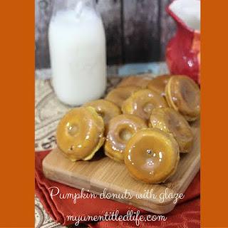 Baked Pumpkin Mini Donuts with Glaze.