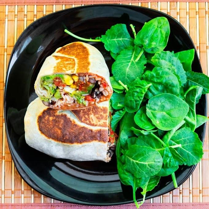 Spinach and Bean Burrito Wrap Recipe | Breakfast Care