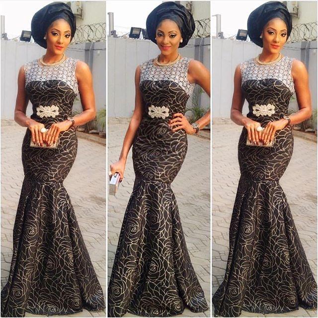 Aso Ebi Dress Nigerian Lace Styles Fashion Qe
