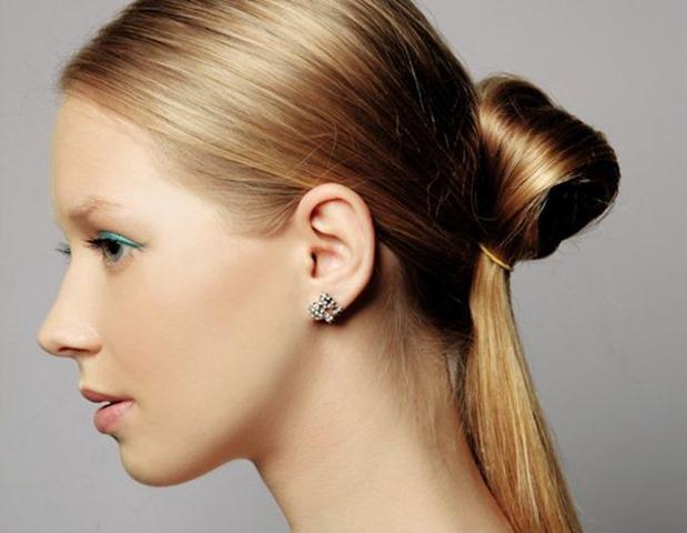 Penteado pra cabelo com Elástico