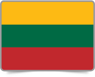 Lithuanian framed flag icons with box shadow