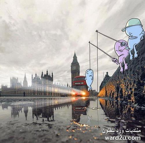 إضافات كرتونية طريفة للفنان Lucas Levitan