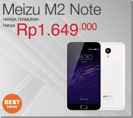 Harga Meizu M2 Note Turun, Kini Hanya 1,6 Juta-an!