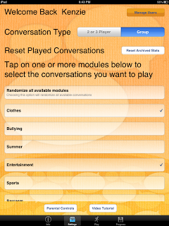Conversation Builder Teen Settings