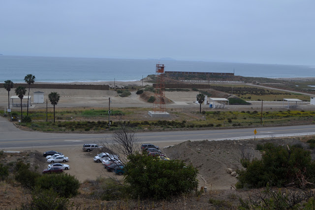 parking lot, highway, naval base, and Anacapa