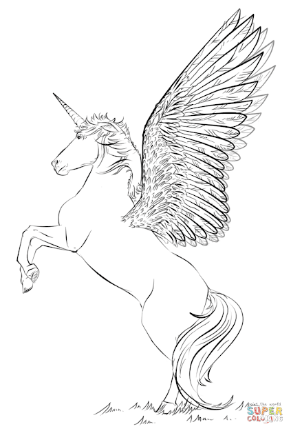 Click The Unicorn With Wings Coloring Pages To View Printable Version Or  Color It Online Patible With Ipad And Android Tablets