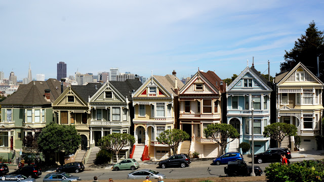 painted ladies, most iconic sight in San Francisco in San Francisco, California, United States