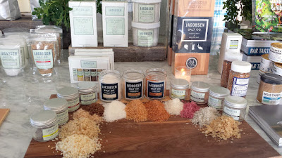 The incredible finishing salts that are the products of Ben Jacobsen and Jacobsen Salt Co and which elevate food all over the world.