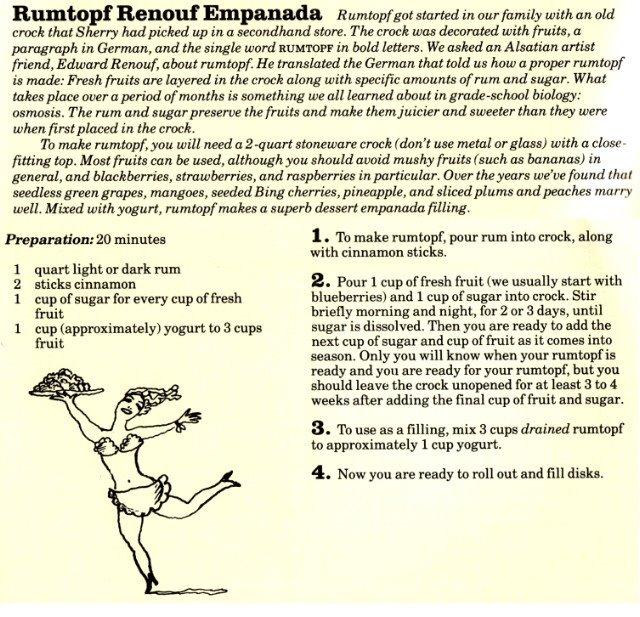Rumtopf Renouf Empanada
