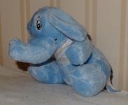 639 03-peluche éléphant bleu 12 cm