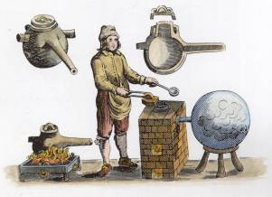 From Glauber Furni Novi Philosophici Amsterdam 1651, Alchemical And Hermetic Emblems 2