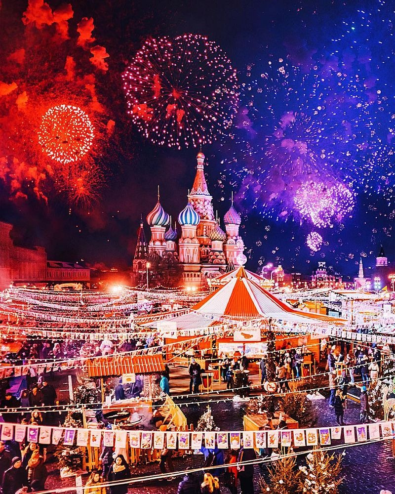 Russian Christmas.Fairytale Like Christmas Celebration In Moscow Amusing Planet