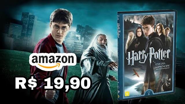 DVD DUPLO: Harry Potter e o Enigma do Príncipe em promoção na Amazon por apenas R$ 19,90