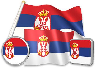 Serbian flag animated gif collection