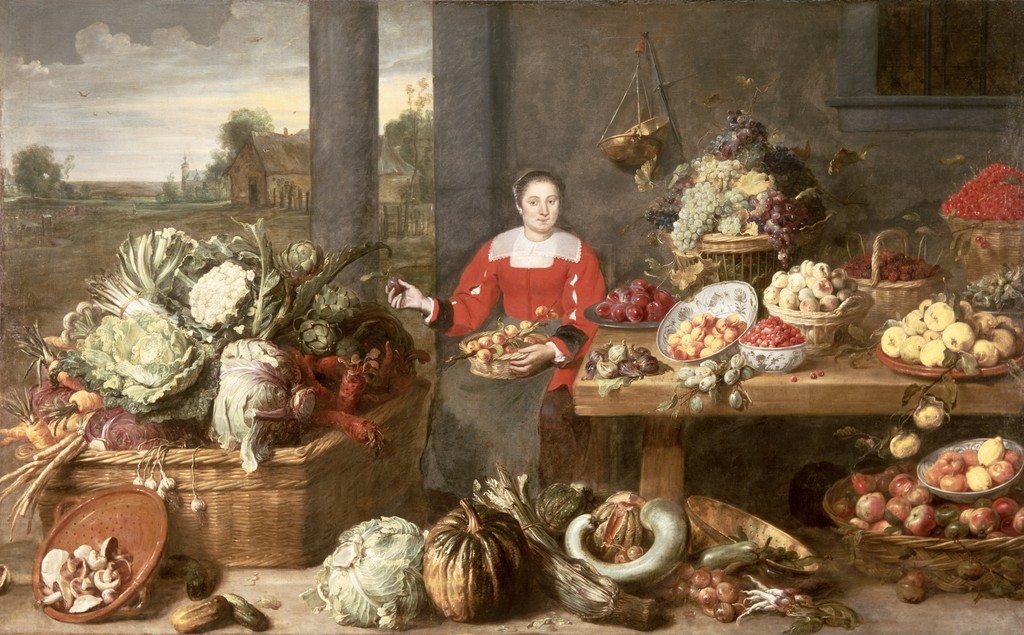 Frans Snyders - A Fruit Stall.