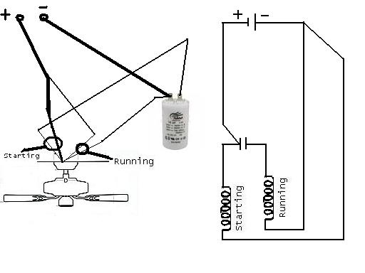 ceiling fan condenser connection diagram