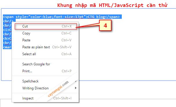Hướng dẫn sử dụng bảng thử mã HTML, JavaScript