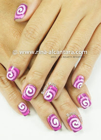 Radiant Orchid Nail Art by Simply Rins