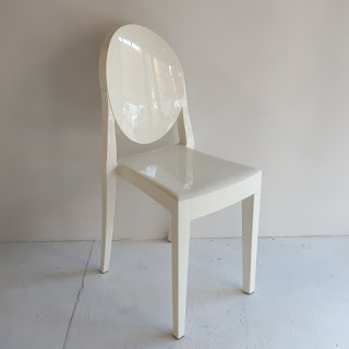 Kartell White Victoria Ghost Side Chair