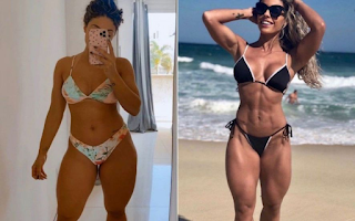 Influenciadora perde contratos após engordar seis quilos