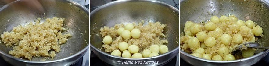 Undlkai or Sweet Kozhukattai Preparation