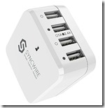 Syncwire 4 USB Fast Wall Charger with international plugs