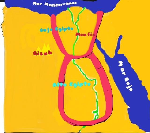 Shh estoy escribiendo Mapa de Egipto