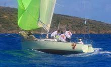 J/27 sailing St Croix regatta