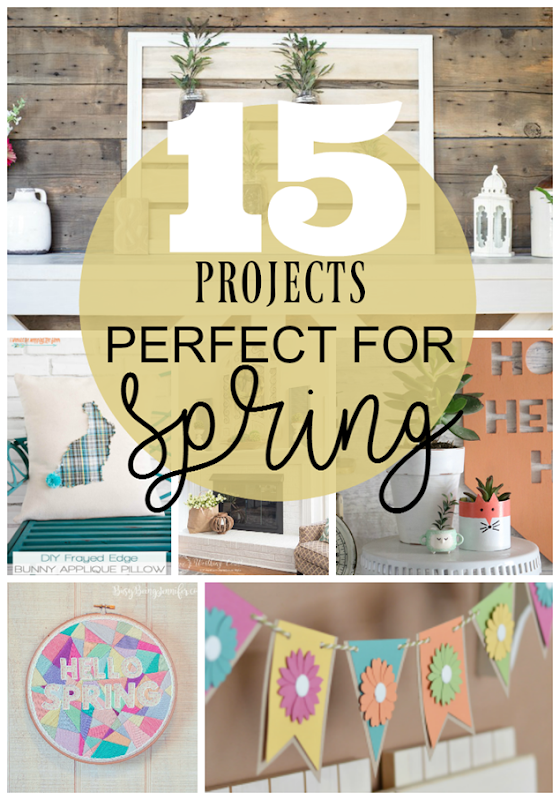 15 Projects Perfect for Spring at GingerSnapCrafts.com #spring #DIY #forthehome