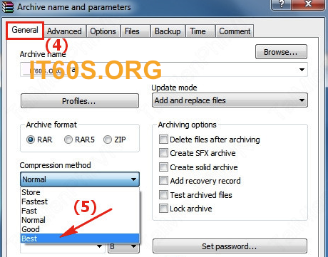 Cách ghi chú thích vào trong File nén 3