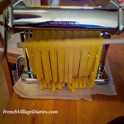#LazySundayinFrance homemade pasta recipe French Village Diaries