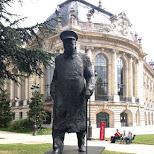 winston churchill statue in Paris, Paris - Ile-de-France, France