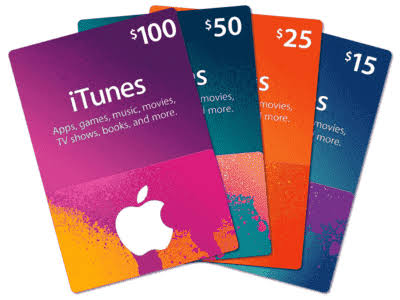 how much is iTunes gift card
