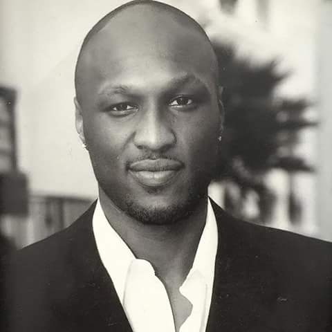 Lamar Odom black and white picture