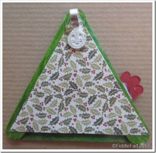 Mini Craft Stick Christmas Tree Decorations