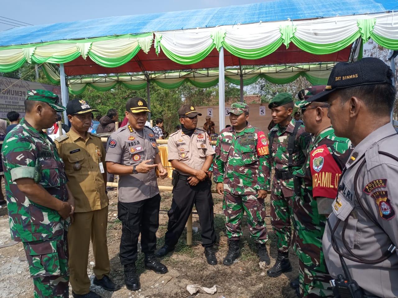 Kabid Humas Polda Banten Pantau Pelaksanaan Pilkades Serentak Kabupaten Tangerang