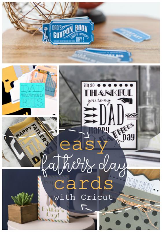 Easy Father's Day Cards with Cricut #cricutmade #cricut