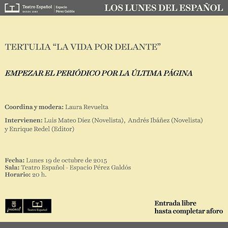 Los lunes del Español presentan sus tertulias 'La vida por delante'