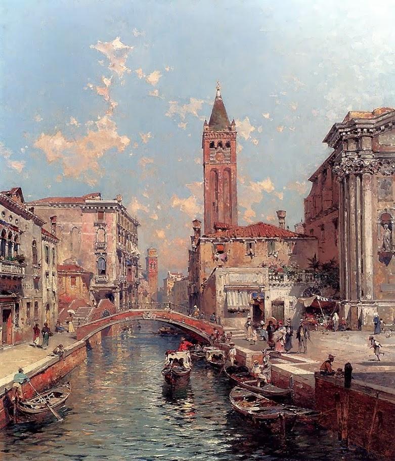 Franz Richard Unterberger - Rio Santa Barnaba Venice