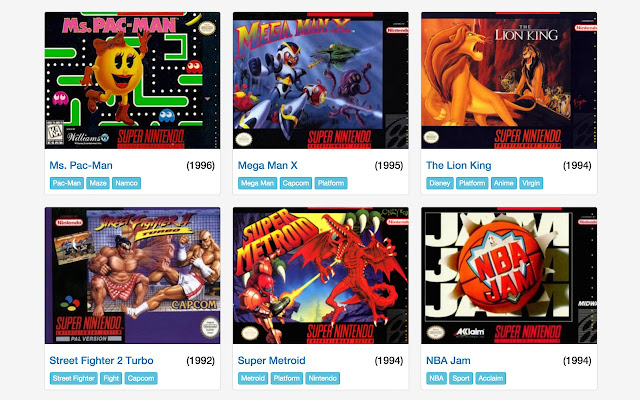 Emulateur Super Nintendo SNES