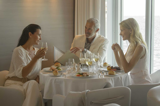 Dine in style during a luxury expedition cruise on Ponant's Le Lyrial.