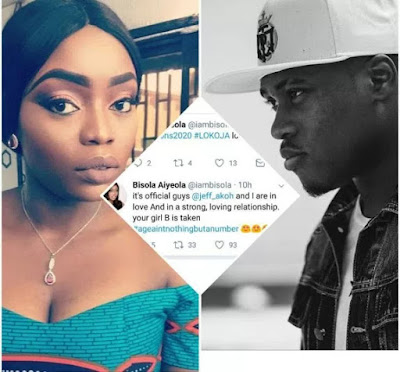 """""""Age is just a number"""" Bisola of Big Brother declares as she announces her relationship with 21 year old Jeff Akoh!"""