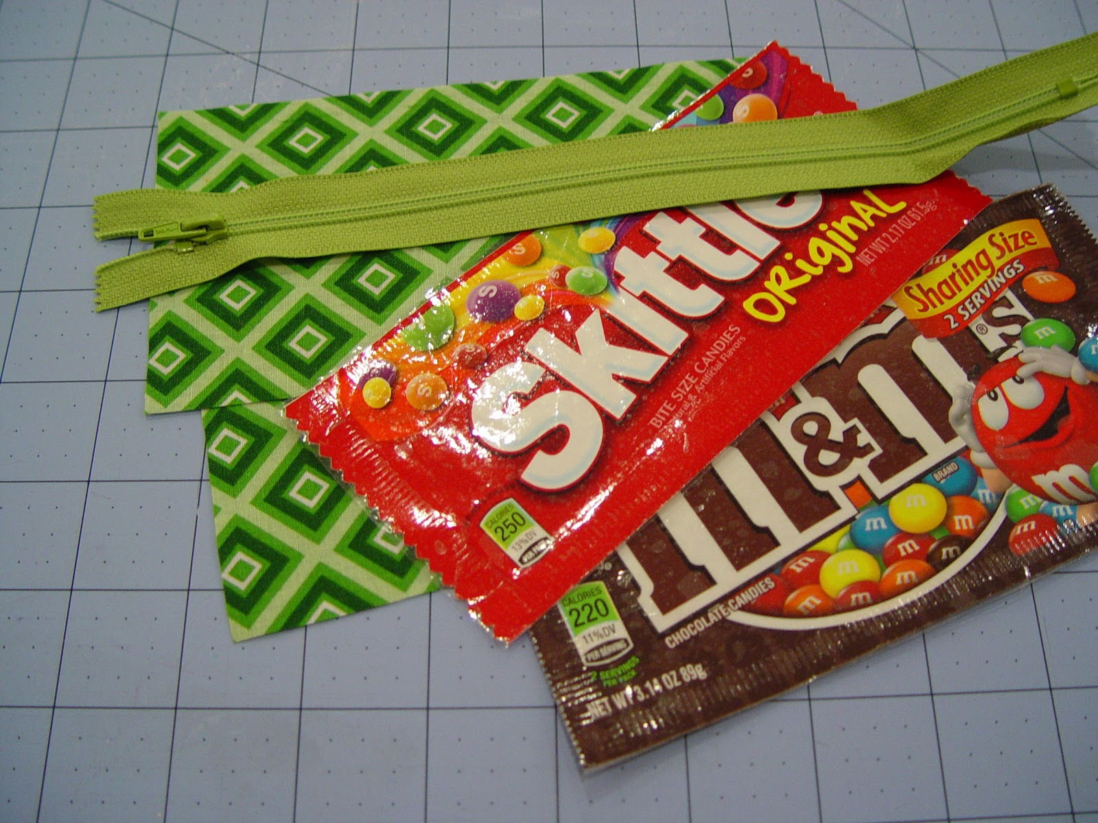 How To Make A Sweet Candy Wrapper Zipper Pouch