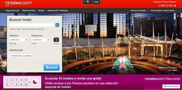 Abrir mi cuenta en Hoteles.com