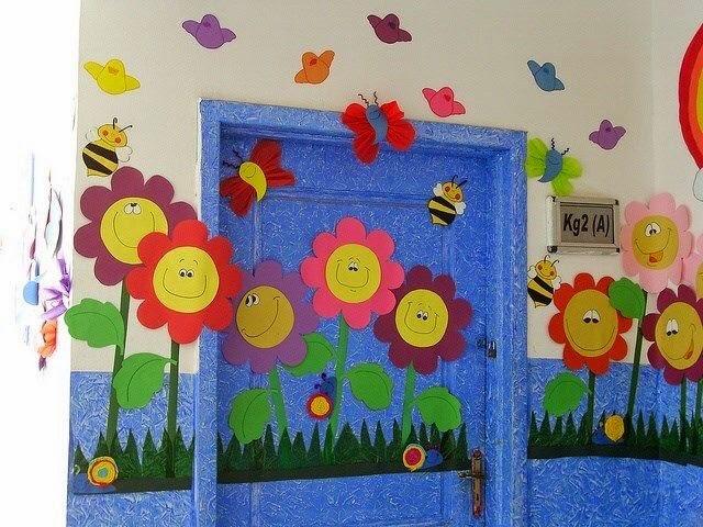 Mis cosas de educaci n especial manualidades primavera for Decoracion verano jardin infantil