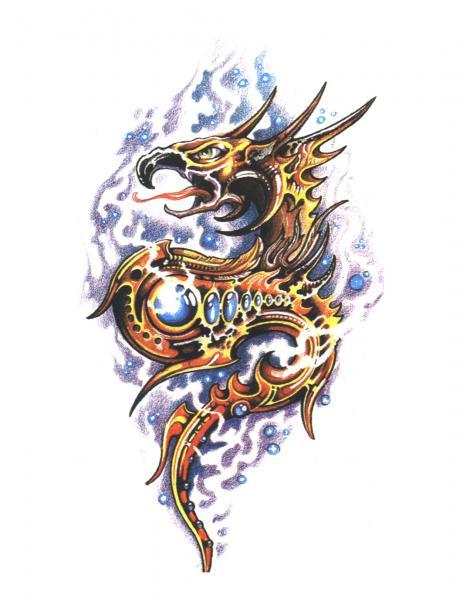 Design Of Horror Tattoo 3, Fantasy Tattoo Designs