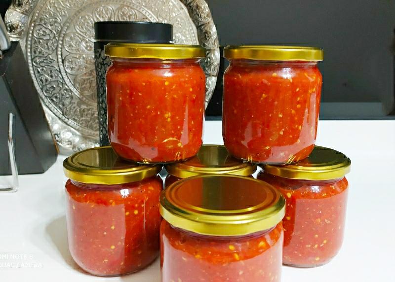 Köz Patlıcanlı Kırmızı Biberli Kahvaltılık Sos