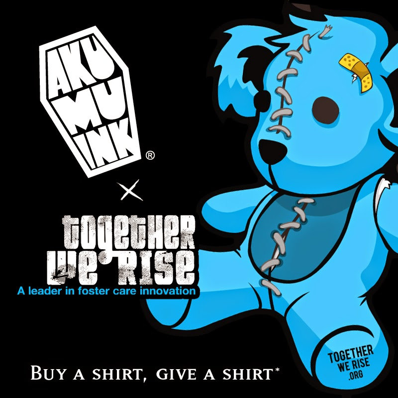 togetherwe rise, akumuink charity, tshirt charity