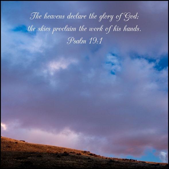 Psalm 19v1