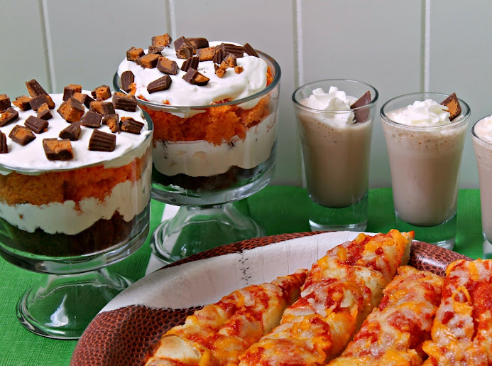 Game Day foods: Butterfingers Peanut Butter Cups Minis trifle recipe & milkshake shooters plus DiGiorno Cheese Stuffed Crust Five Cheese Pizza #GameTimeMVP
